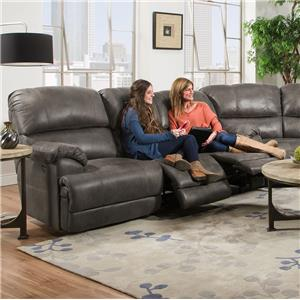 Franklin York Triple Reclining Sofa