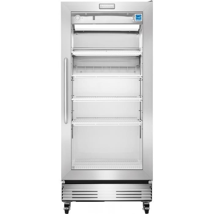 Frigidaire commercial 18 4 cu ft glass door merchandiser - Glass door fridge for home ...