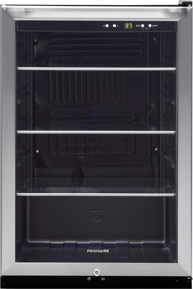 Frigidaire Beverage Cooler 4.6 Cu. Ft. 3-Shelf Beverage Center - Item Number: FFBC4622QS