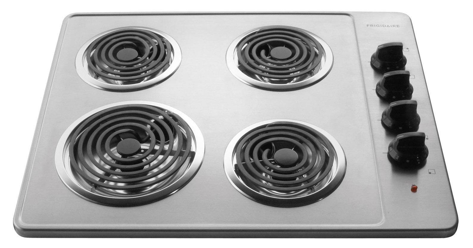 "Frigidaire Electric Cooktops 26"" Built-In Electric Cooktop - Item Number: FFEC2605LS"
