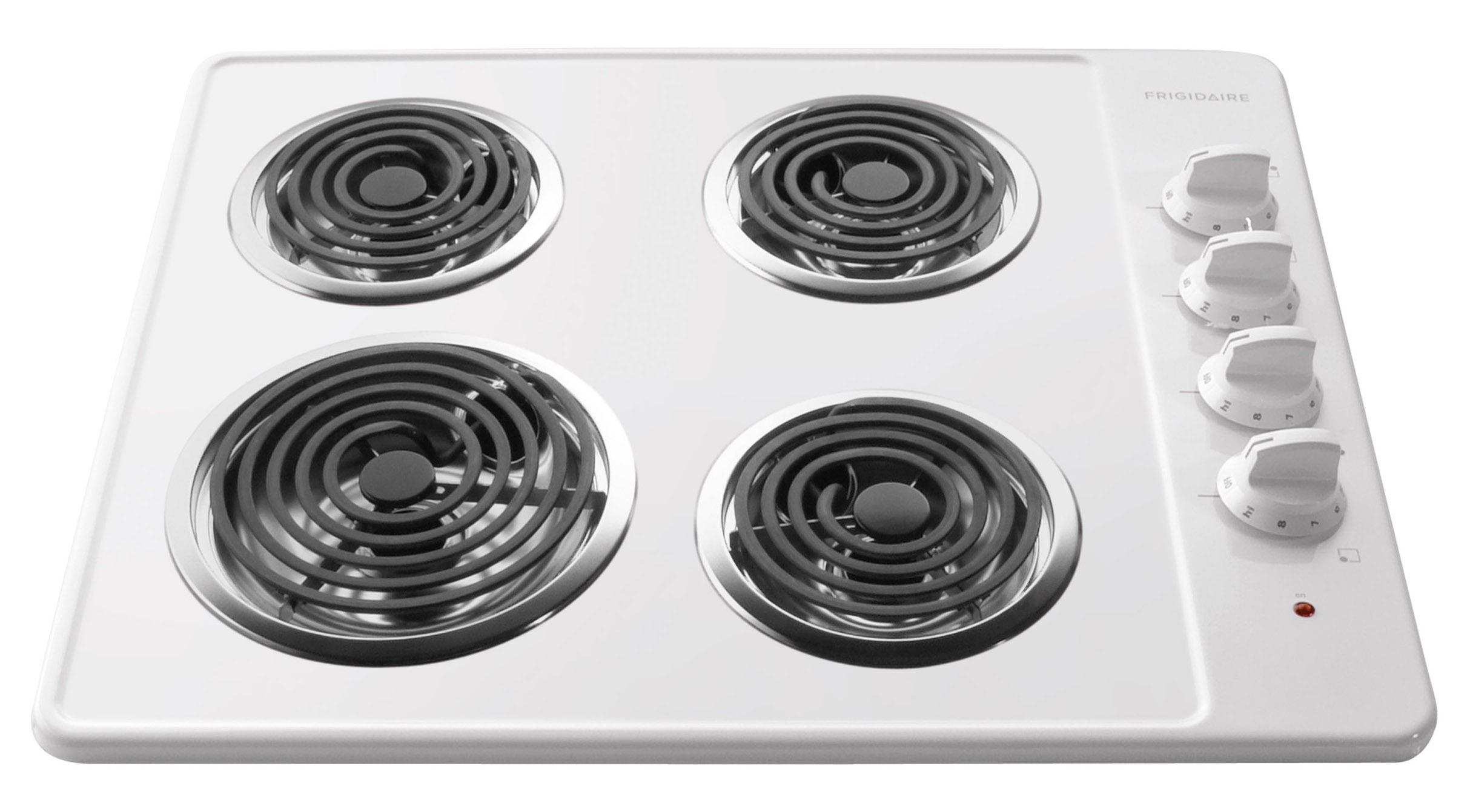 "Frigidaire Electric Cooktops 26"" Built-In Electric Cooktop - Item Number: FFEC2605LW"