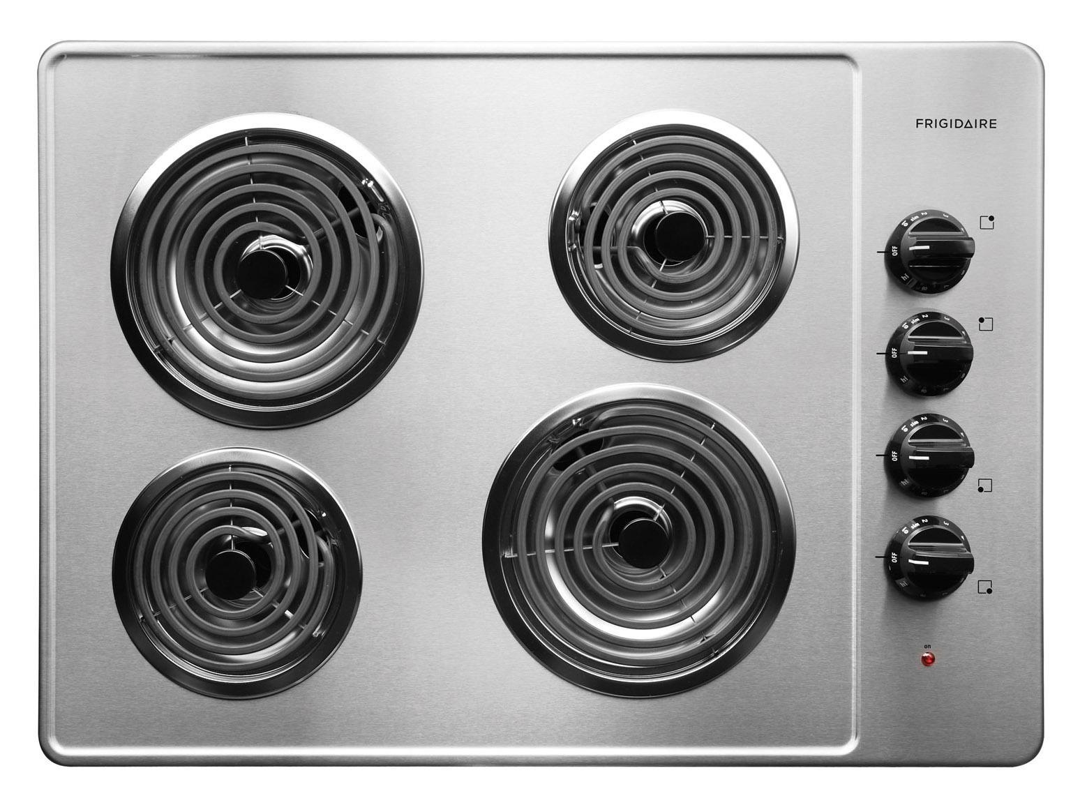 "Frigidaire Electric Cooktops 30"" Built-In Electric Cooktop - Item Number: FFEC3005LS"
