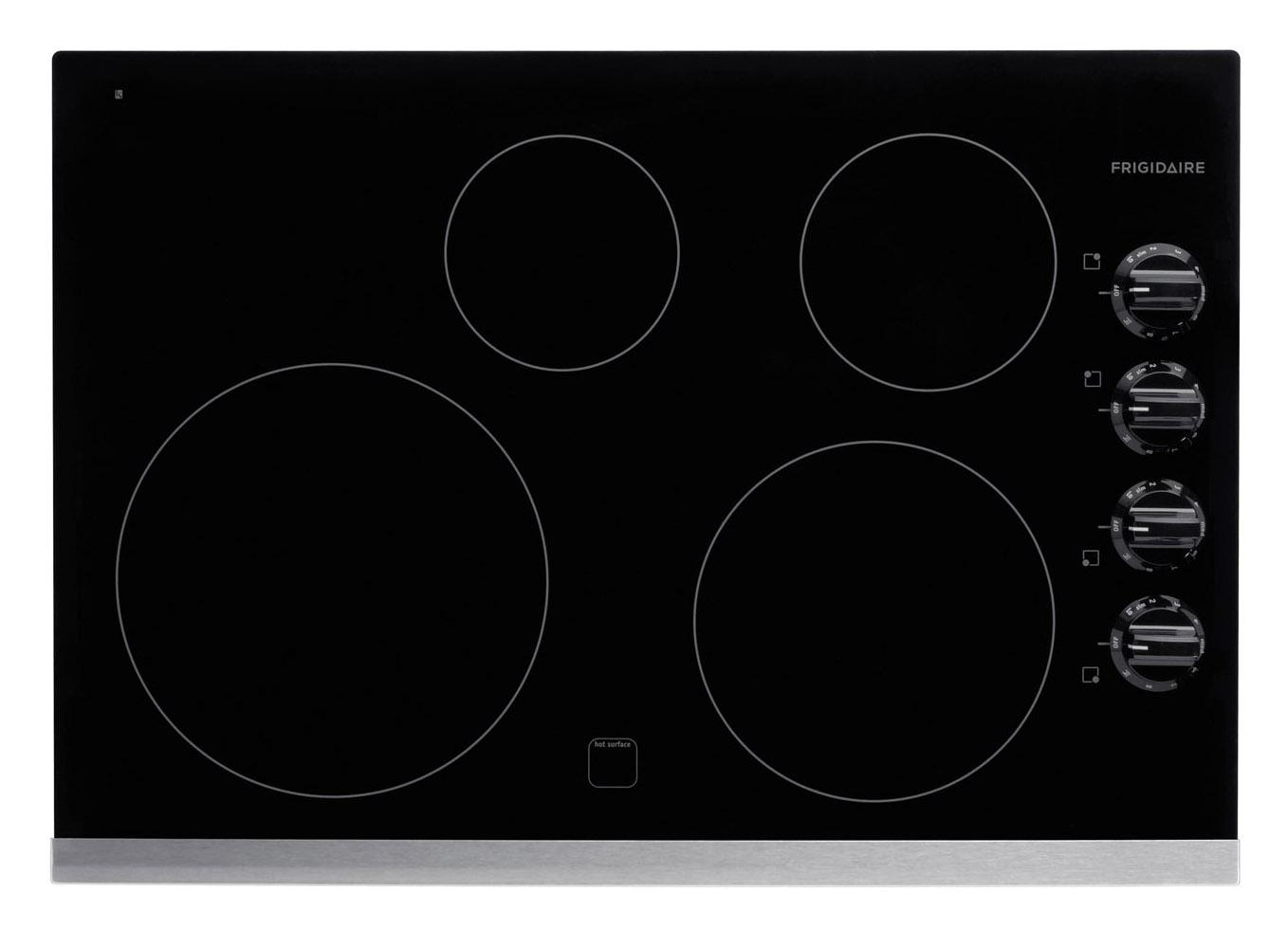 "Frigidaire Electric Cooktops 30"" Built-In Electric Cooktop - Item Number: FFEC3025LS"