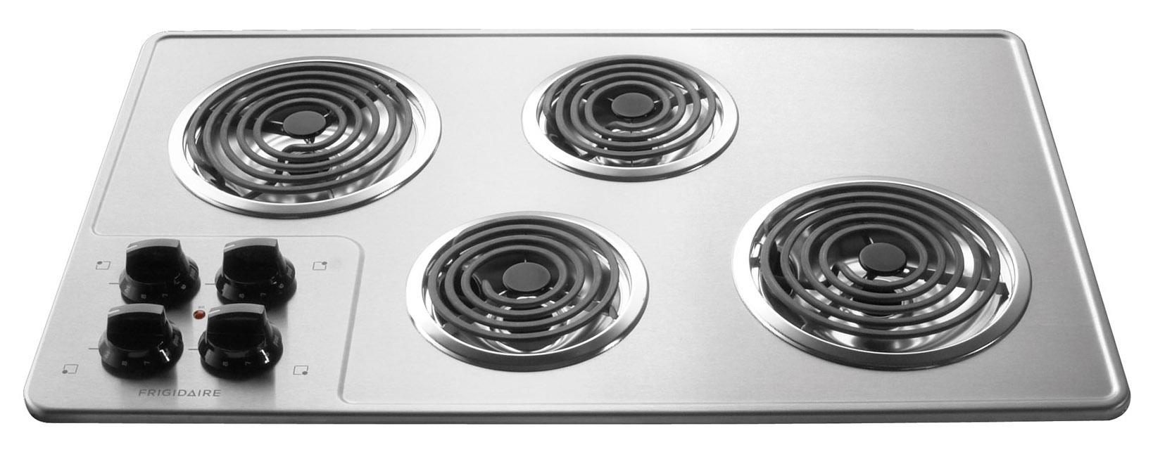 "Frigidaire Electric Cooktops 32"" Built-In Electric Cooktop - Item Number: FFEC3205LS"
