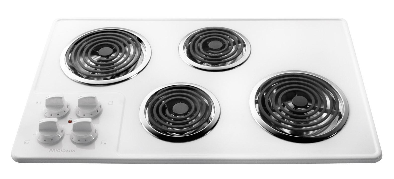 "Frigidaire Electric Cooktops 32"" Built-In Electric Cooktop - Item Number: FFEC3205LW"