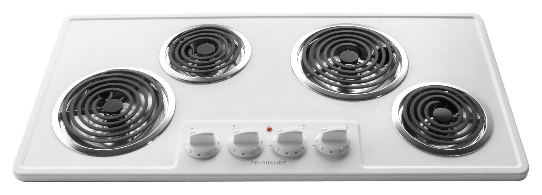 "Frigidaire Electric Cooktops 36"" Built-In Electric Cooktop - Item Number: FFEC3603LW"