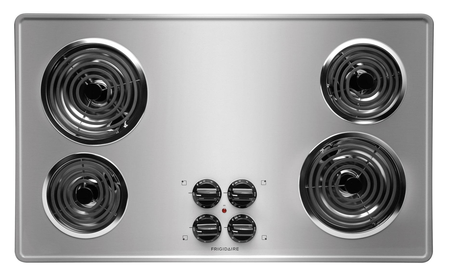 "Frigidaire Electric Cooktops 36"" Built-In Electric Cooktop - Item Number: FFEC3605LS"