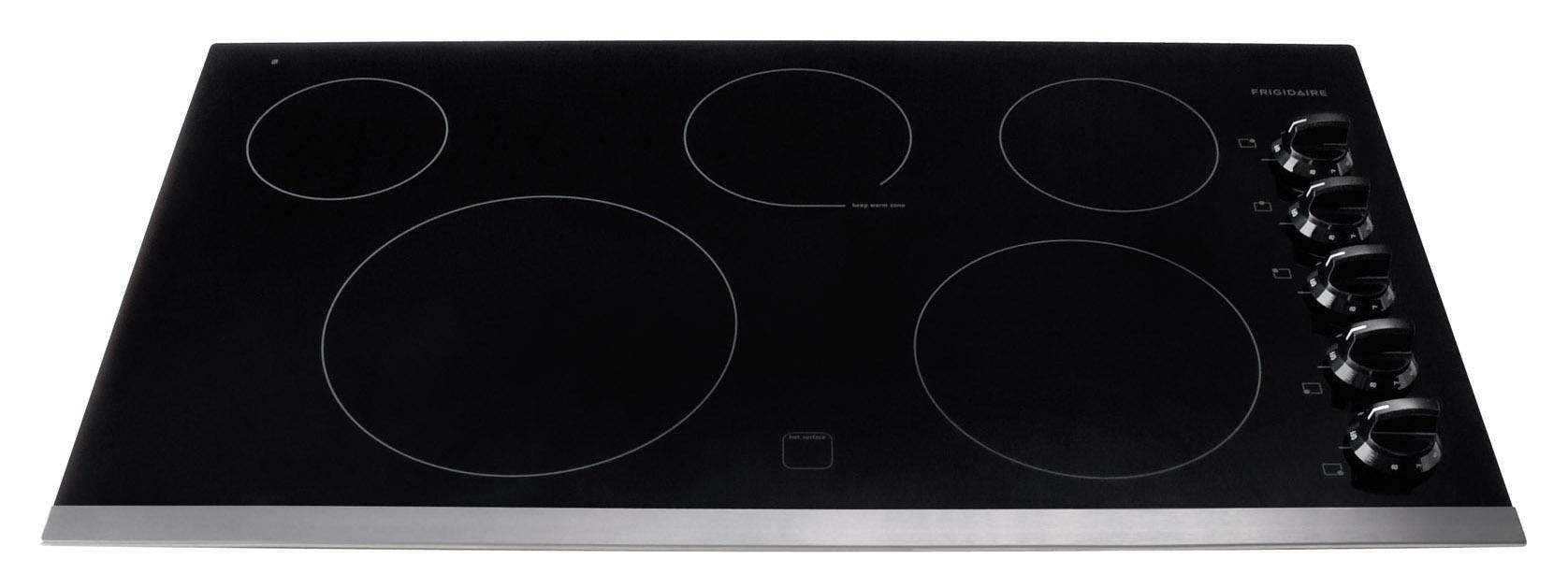 "Frigidaire Electric Cooktops 36"" Built-In Electric Cooktop - Item Number: FFEC3625LS"