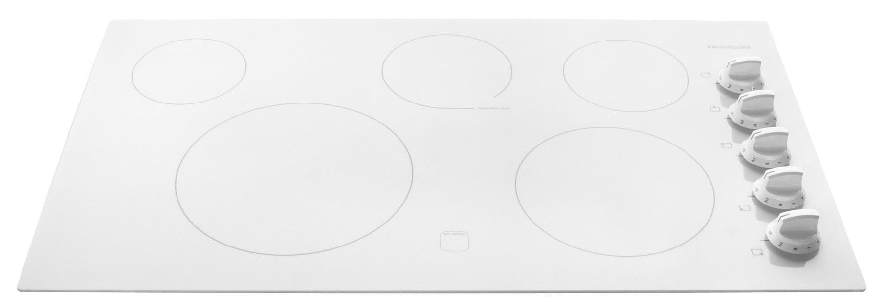 "Frigidaire Electric Cooktops 36"" Built-In Electric Cooktop - Item Number: FFEC3625LW"