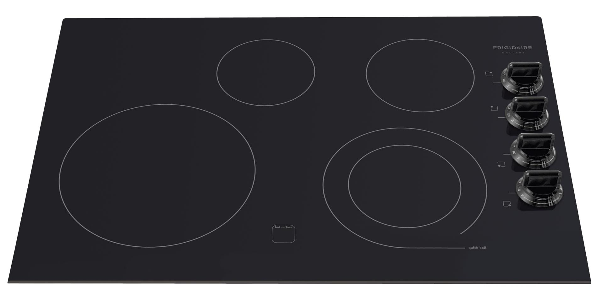 "Frigidaire Frigidaire Gallery Electric Cooktops 30"" Built-In Electric Cooktop - Item Number: FGEC3045KB"