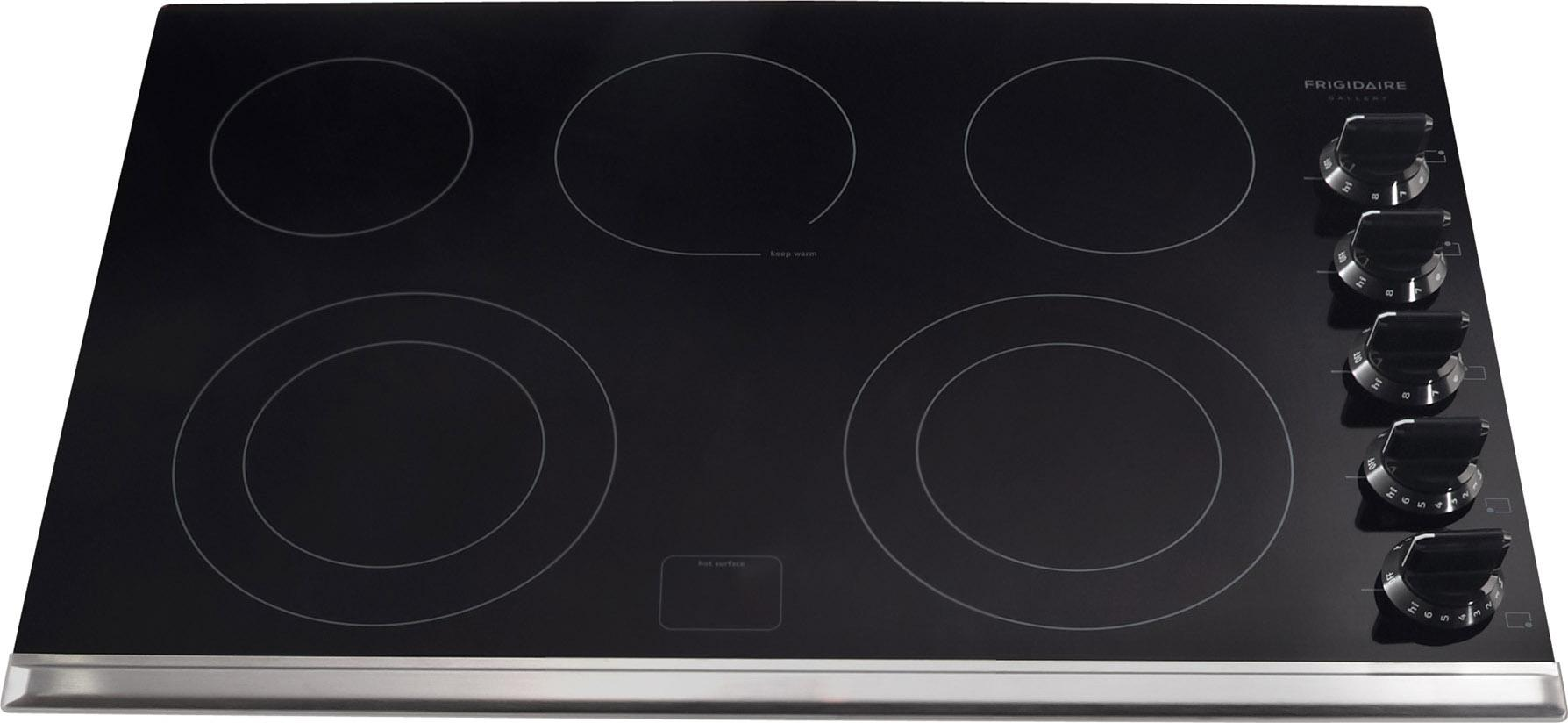 """Frigidaire Frigidaire Gallery Electric Cooktops 30"""" Built-In Electric Cooktop - Item Number: FGEC3067MB"""