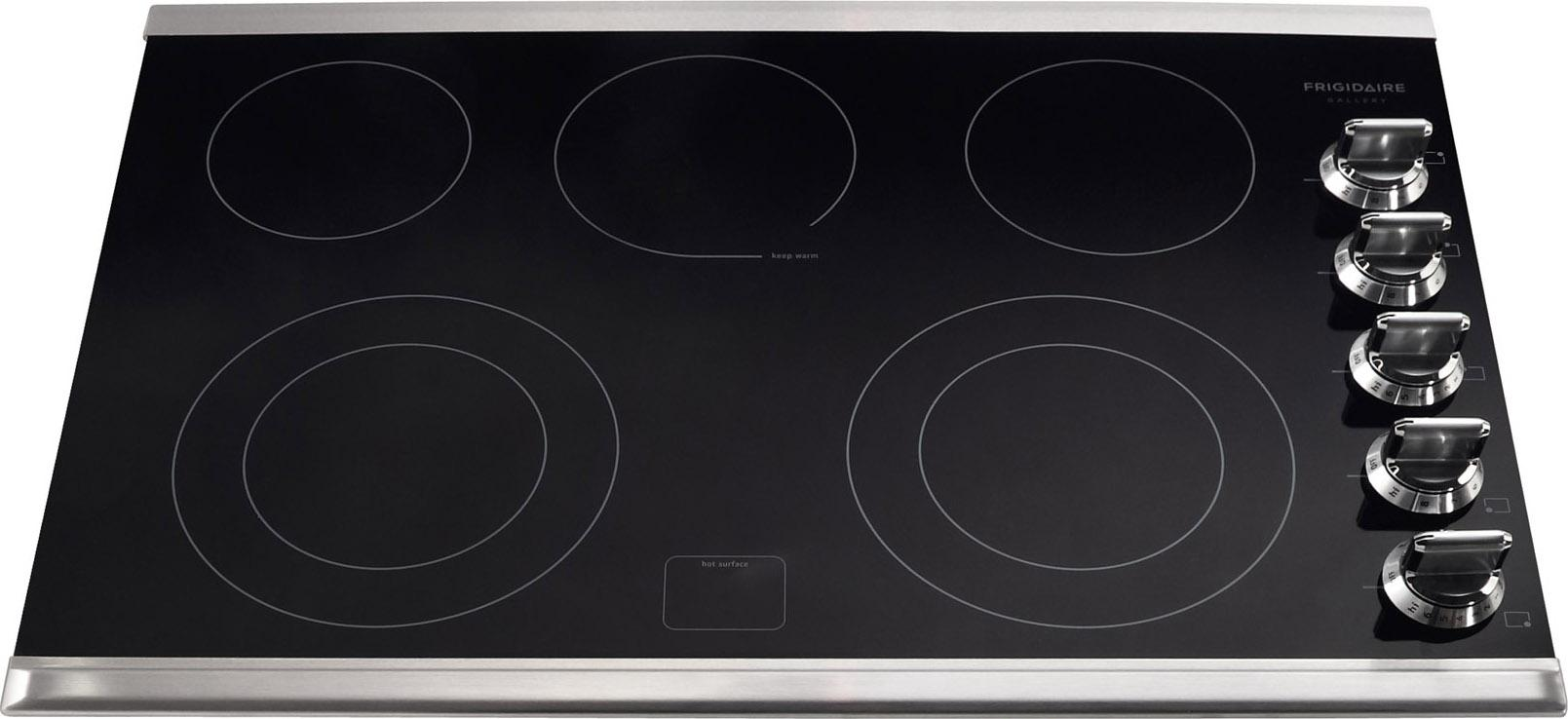 "Frigidaire Frigidaire Gallery Electric Cooktops 30"" Built-In Electric Cooktop - Item Number: FGEC3067MS"