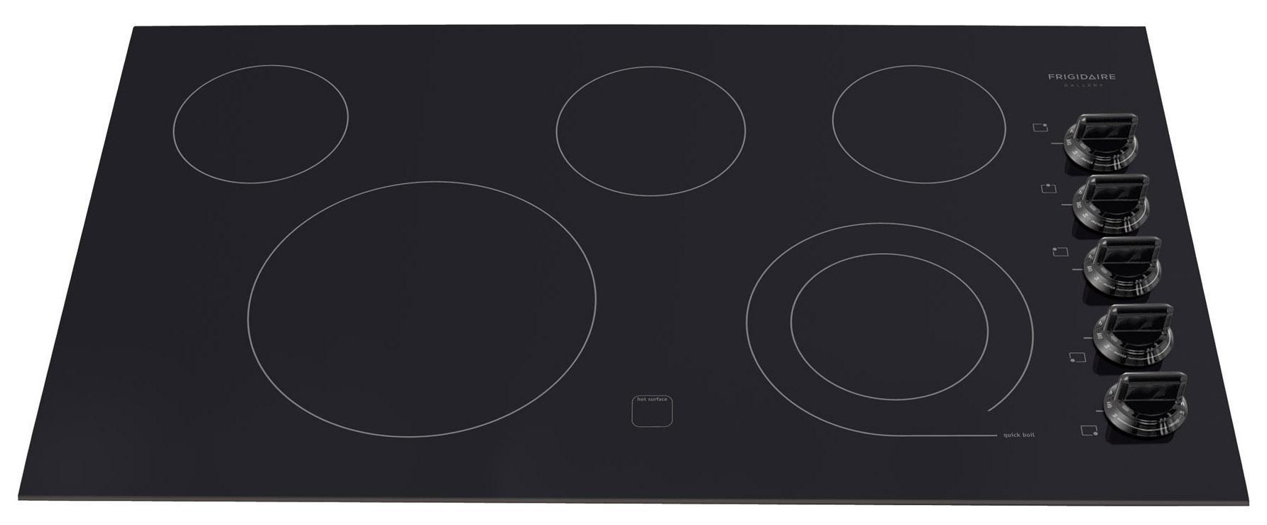 "Frigidaire Frigidaire Gallery Electric Cooktops Gallery 36"" Built-In Electric Cooktop - Item Number: FGEC3645KB"
