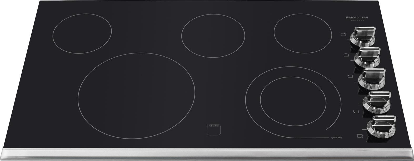 "Frigidaire Frigidaire Gallery Electric Cooktops Gallery 36"" Built-In Electric Cooktop - Item Number: FGEC3645PS"