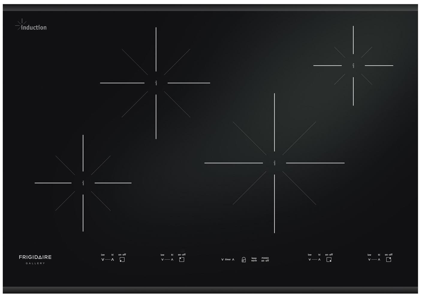 "Frigidaire Frigidaire Gallery Electric Cooktops 30"" Built-In Induction Cooktop - Item Number: FGIC3067MB"