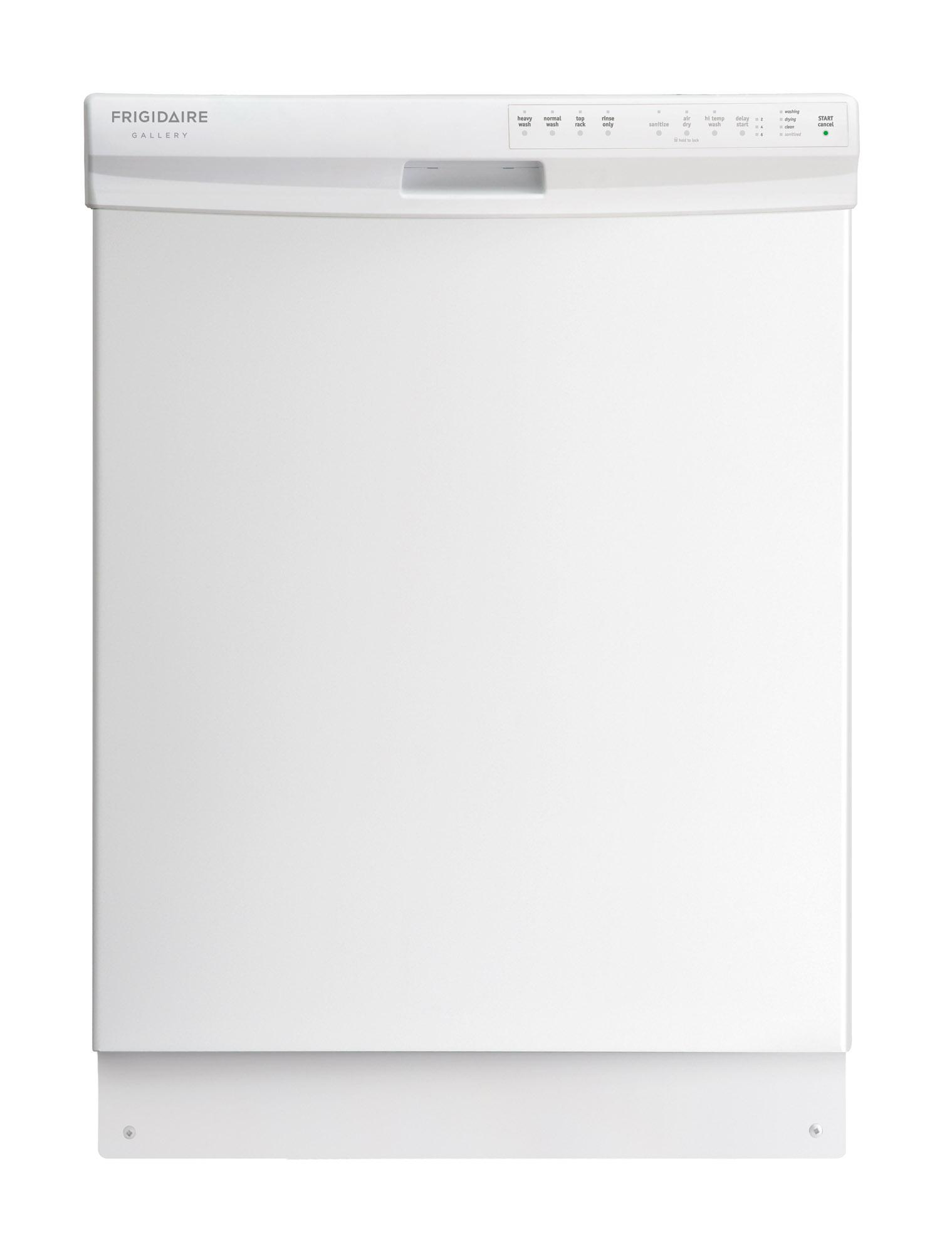 "Frigidaire Frigidaire Gallery Dishwashers 24"" Gallery Built-In Dishwasher - Item Number: FGBD2438PW"