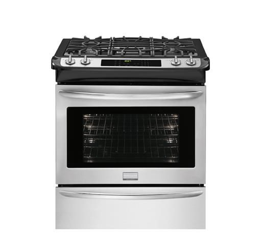 "Frigidaire Dual-Fuel Ranges Gallery 30"" Slide-In Dual-Fuel Range - Item Number: FGDS3065PF"