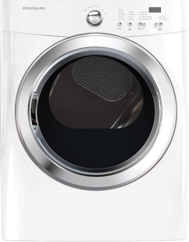 Frigidaire Electric Dryers Frigidaire 7.0 Cu.Ft Electric Dryer - Item Number: FFQE5100PW