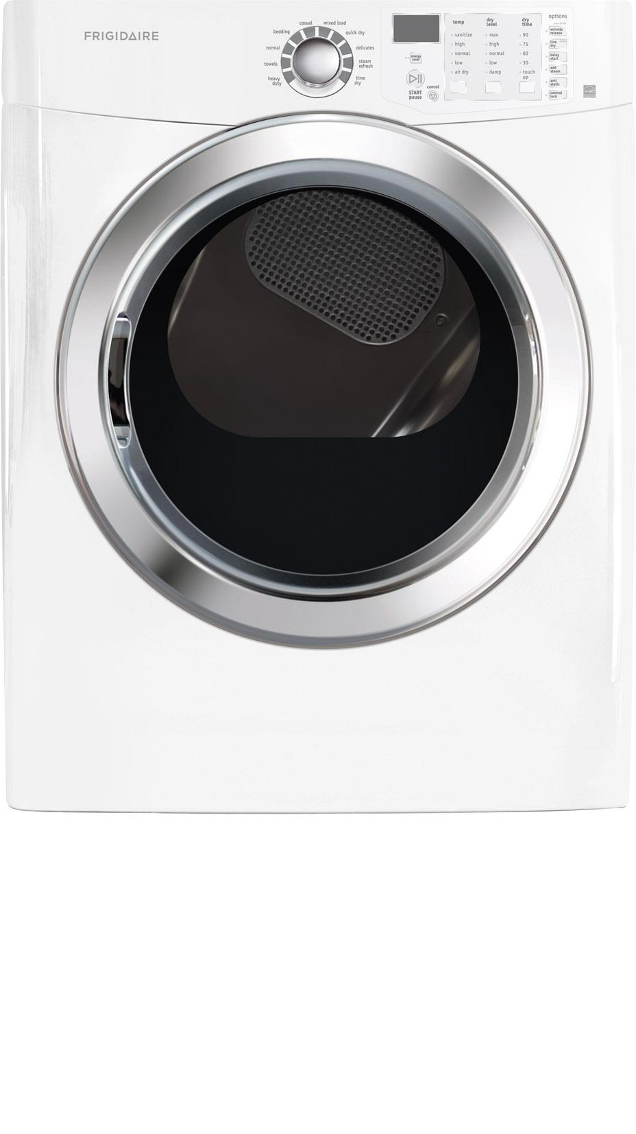 Frigidaire Electric Dryers 7.0 Cu.Ft. Front Load Electric Dryer - Item Number: FFSE5115PW