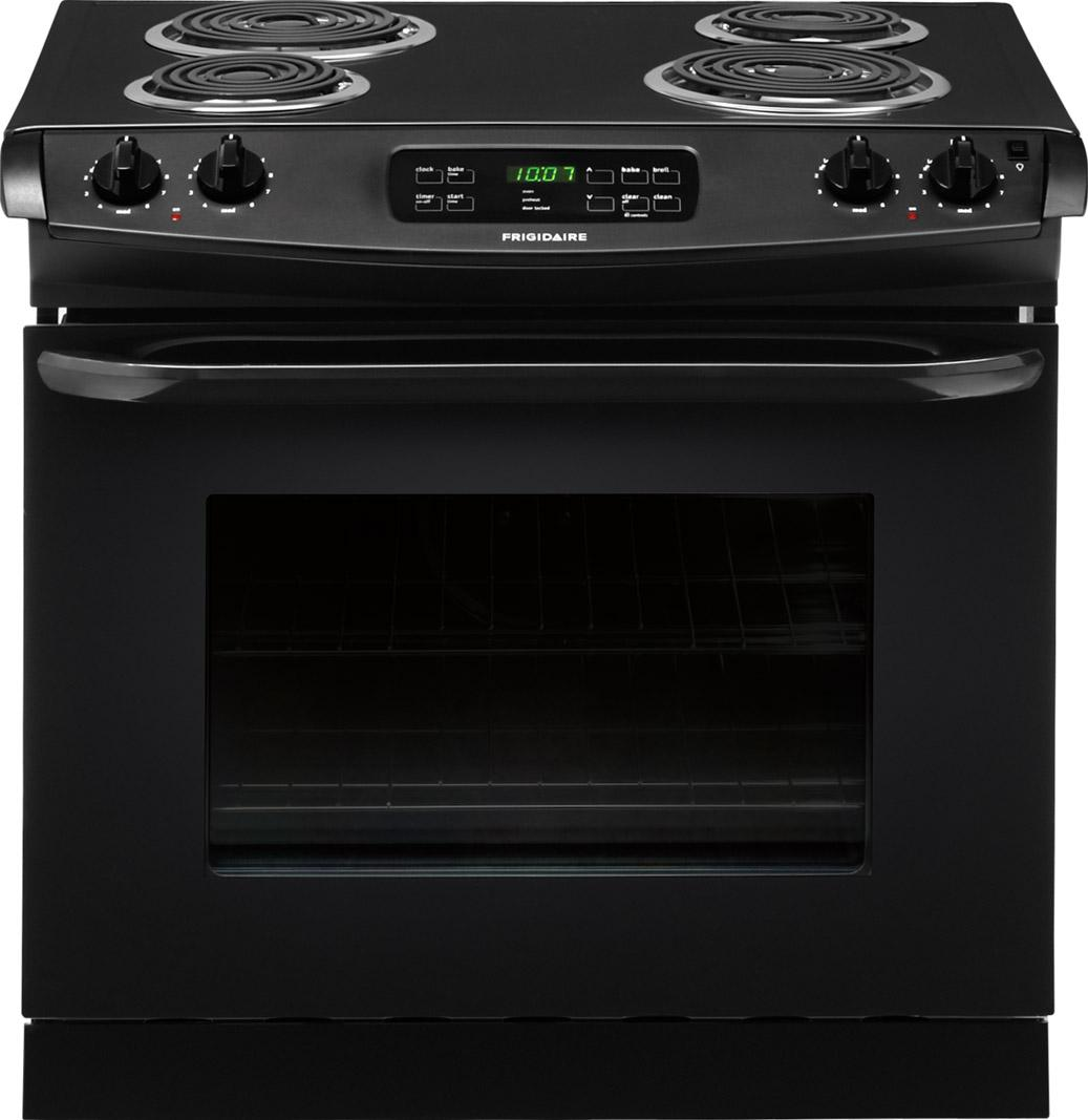 "Frigidaire Electric Range 30"" Drop-In Electric Range - Item Number: FFED3015PB"