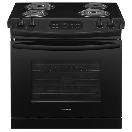 "Frigidaire Electric Range 30"" Drop-In Electric Range - Item Number: FFED3016TB"