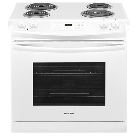 "Frigidaire Electric Range 30"" Drop-In Electric Range - Item Number: FFED3016TW"