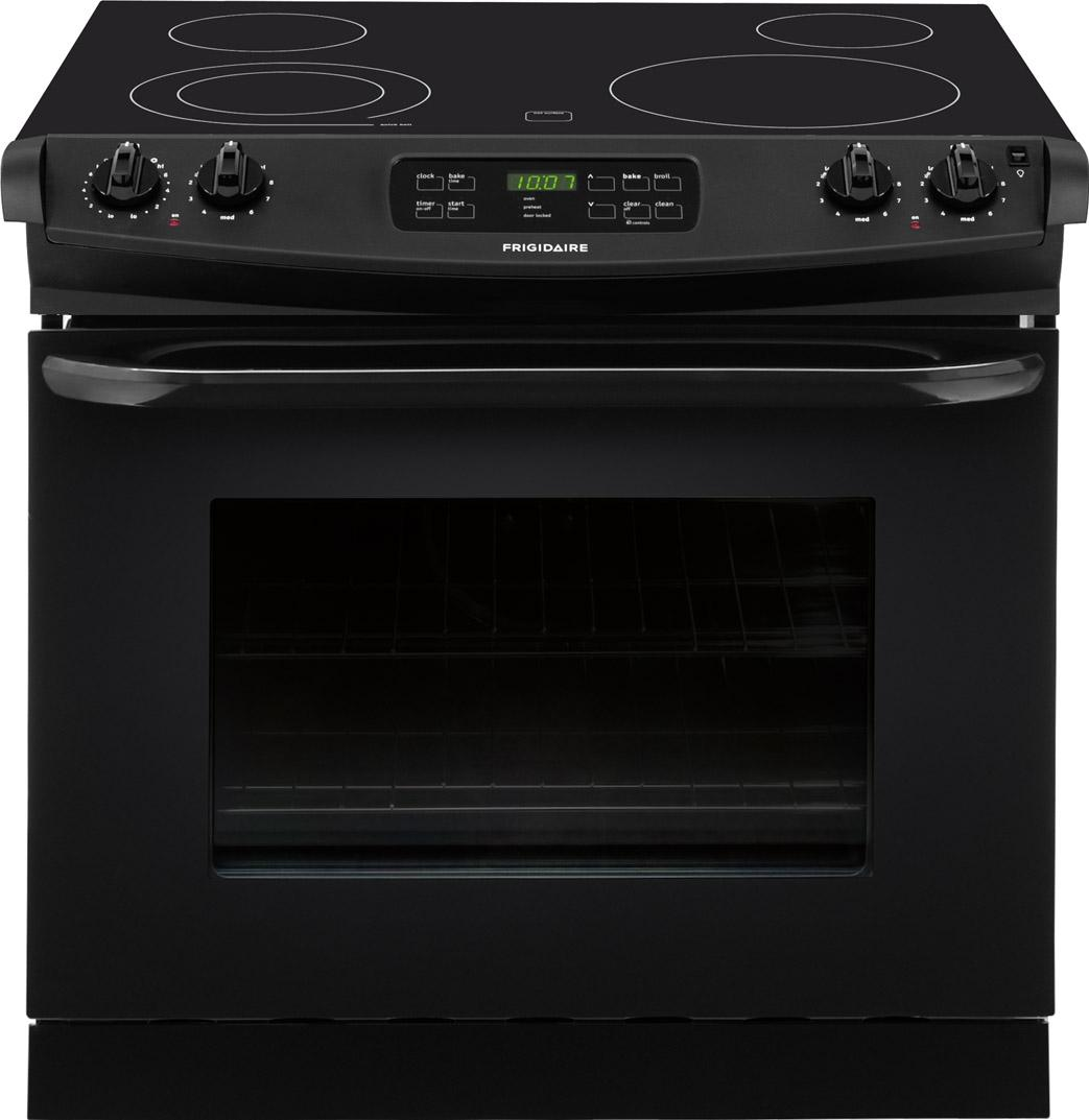"Frigidaire Electric Range 30"" Drop-In Electric Range - Item Number: FFED3025PB"