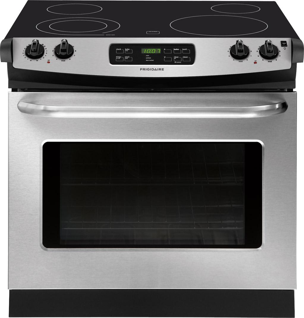 "Frigidaire Electric Range 30"" Drop-In Electric Range - Item Number: FFED3025PS"