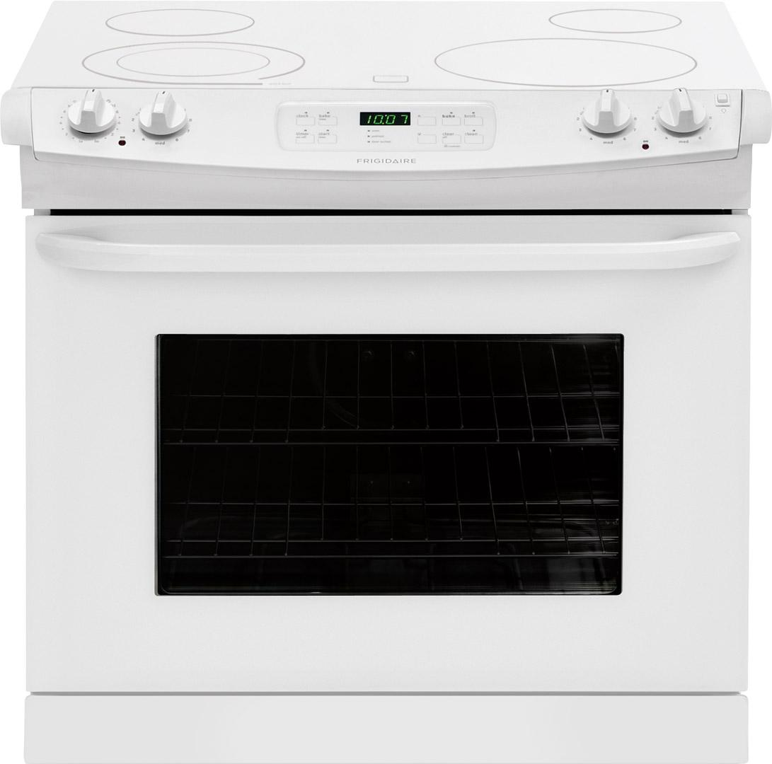 "Frigidaire Electric Range 30"" Drop-In Electric Range - Item Number: FFED3025PW"