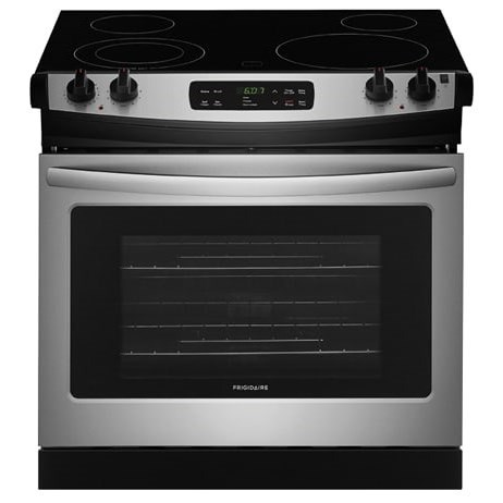 """Frigidaire Electric Range 30"""" Drop-In Electric Range - Item Number: FFED3026TS"""