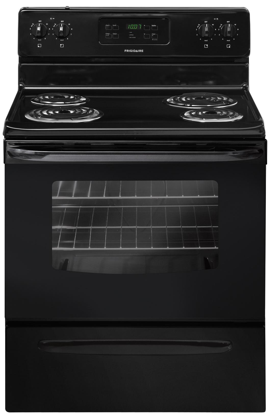 "Frigidaire Electric Range 30"" Freestanding Electric Range - Item Number: FFEF3015PB"