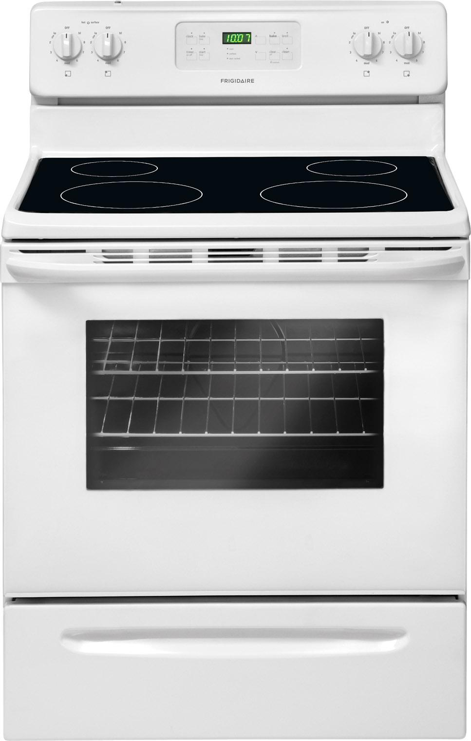 "Frigidaire Electric Range 30"" Freestanding Electric Range - Item Number: FFEF3017ZW"
