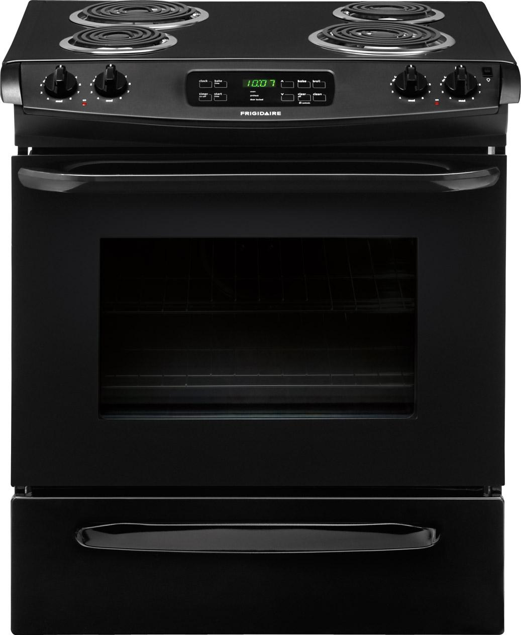 "Frigidaire Electric Range 30"" Slide-In Electric Range - Item Number: FFES3015PB"