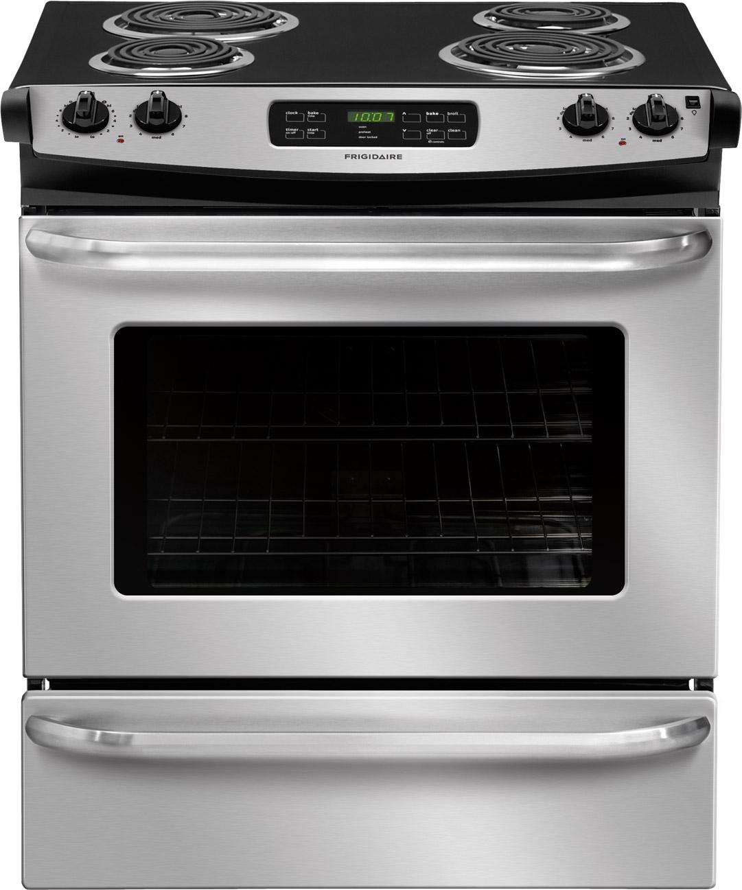 "Frigidaire Electric Range 30"" Slide-In Electric Range - Item Number: FFES3015PS"