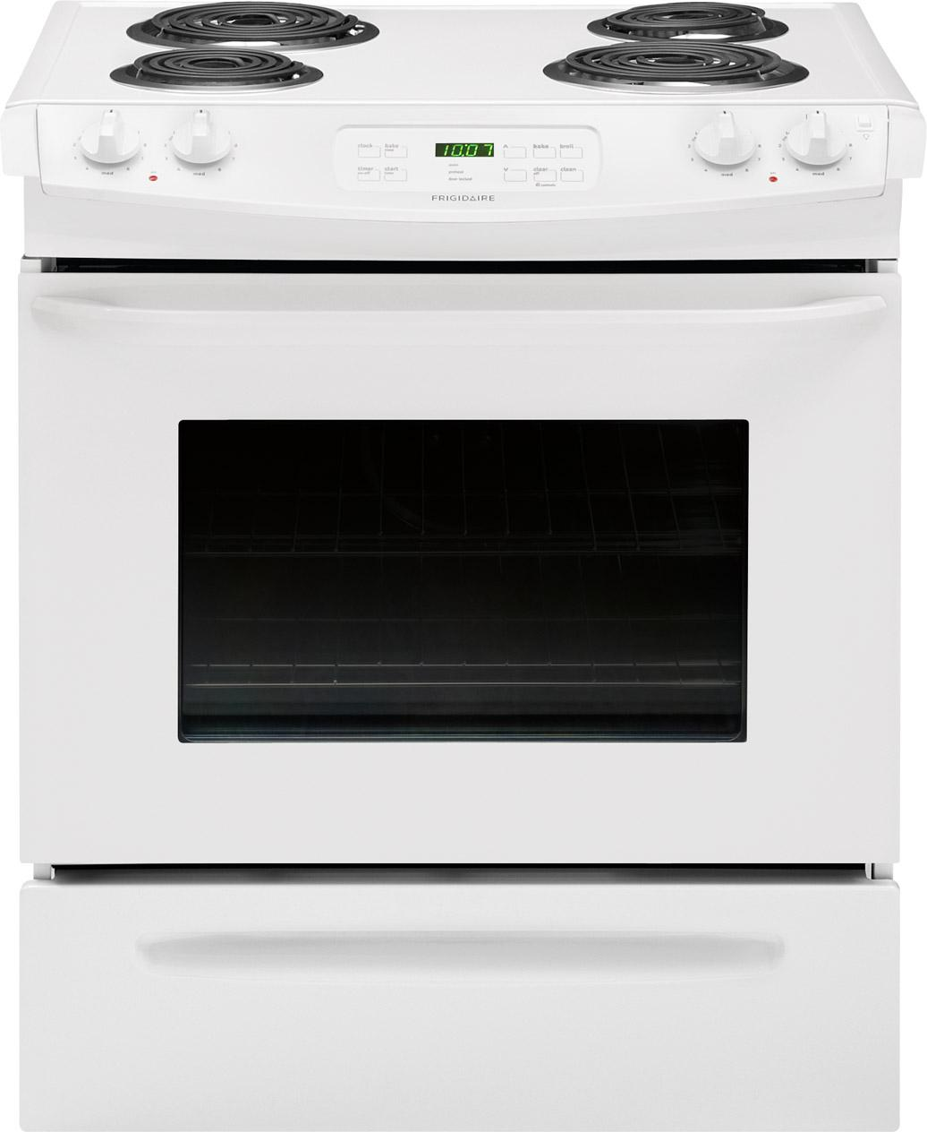 "Frigidaire Electric Range 30"" Slide-In Electric Range - Item Number: FFES3015PW"