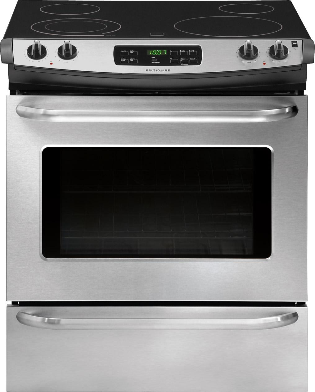 "Frigidaire Electric Range 30"" Slide-In Electric Range - Item Number: FFES3025PS"
