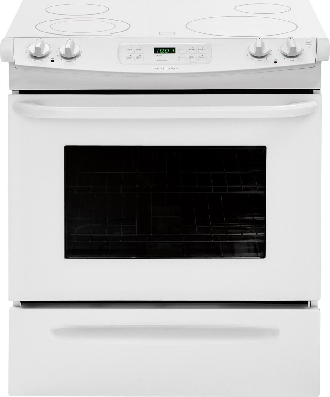 "Frigidaire Electric Range 30"" Slide-In Electric Range - Item Number: FFES3025PW"