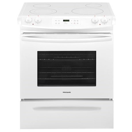 "Frigidaire Electric Range 30"" Slide-In Electric Range - Item Number: FFES3026TW"