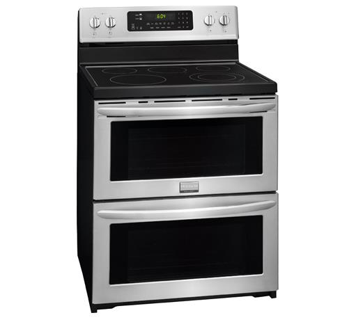 "Frigidaire Frigidaire Gallery Electric Ranges Gallery 30"" Electric Double Oven Range - Item Number: FGEF302TPF"