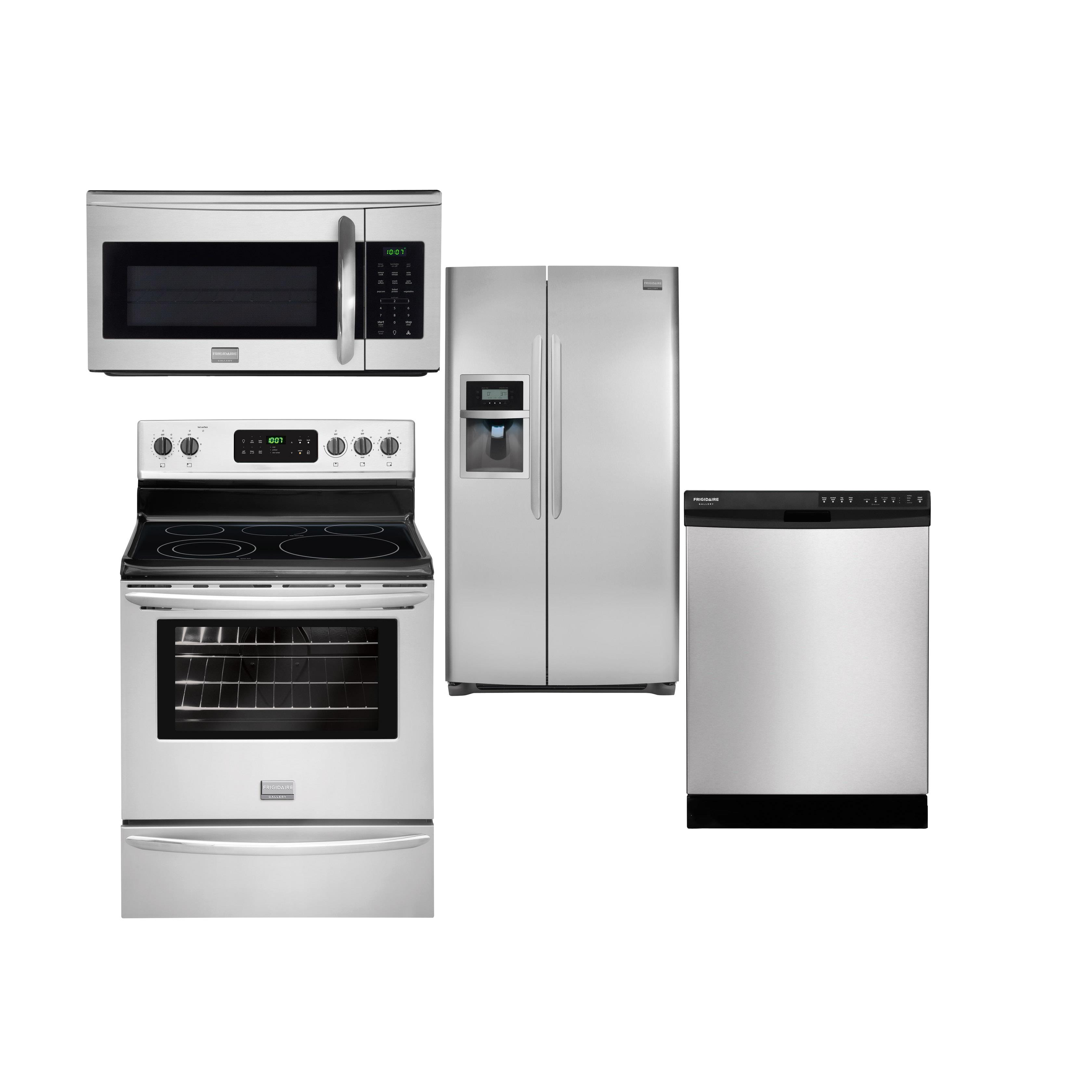 Frigidaire Frigidaire Gallery Electric Ranges 4 Piece Frigidaire Gallery Appliance Package - Item Number: FGEF3030PF+Package