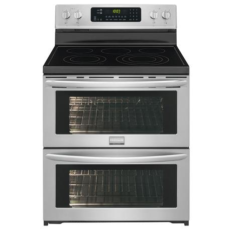 "Frigidaire Frigidaire Gallery Electric Ranges Gallery 30"" Electric Double Oven Range - Item Number: FGEF306TPF"