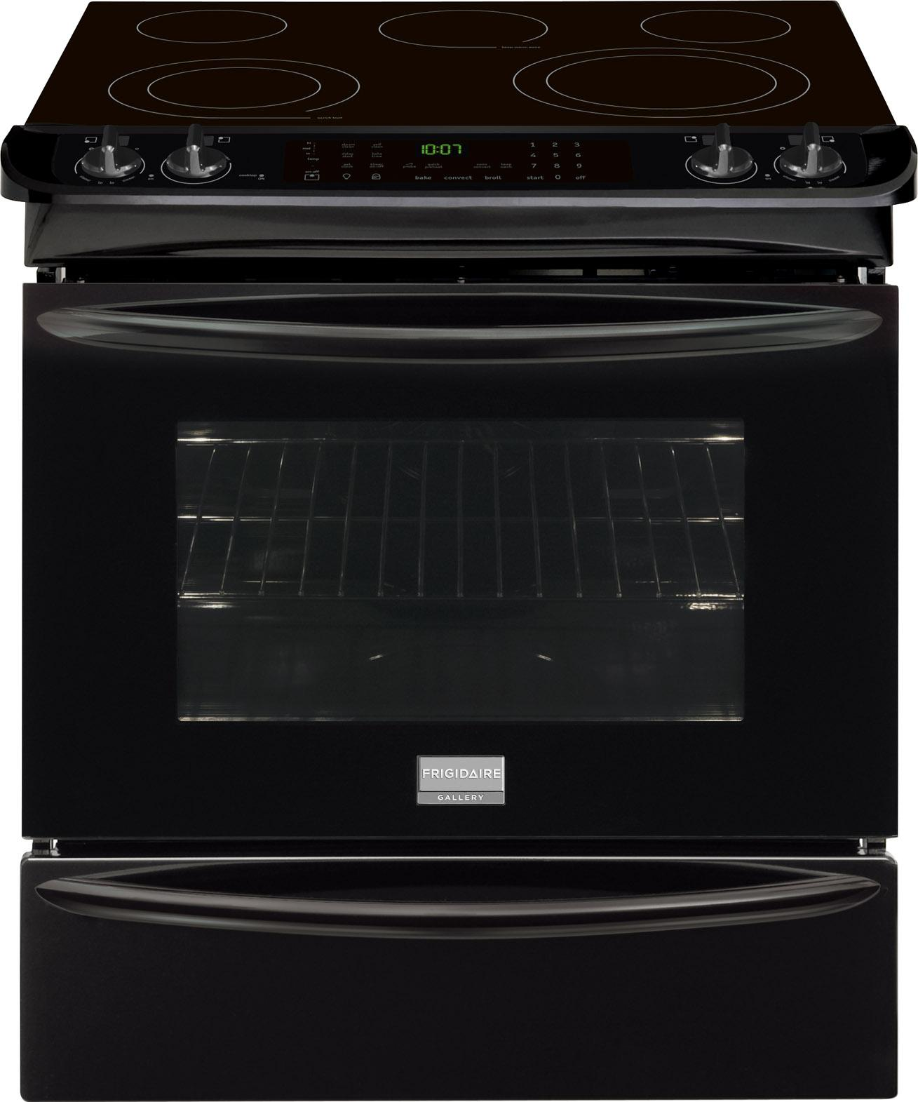 "Frigidaire Frigidaire Gallery Electric Ranges 30"" Slide-In Electric Range - Item Number: FGES3065PB"