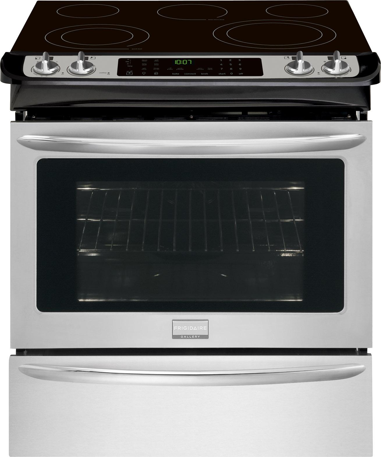 "Frigidaire Frigidaire Gallery Electric Ranges 30"" Slide-In Electric Range - Item Number: FGES3065PF"