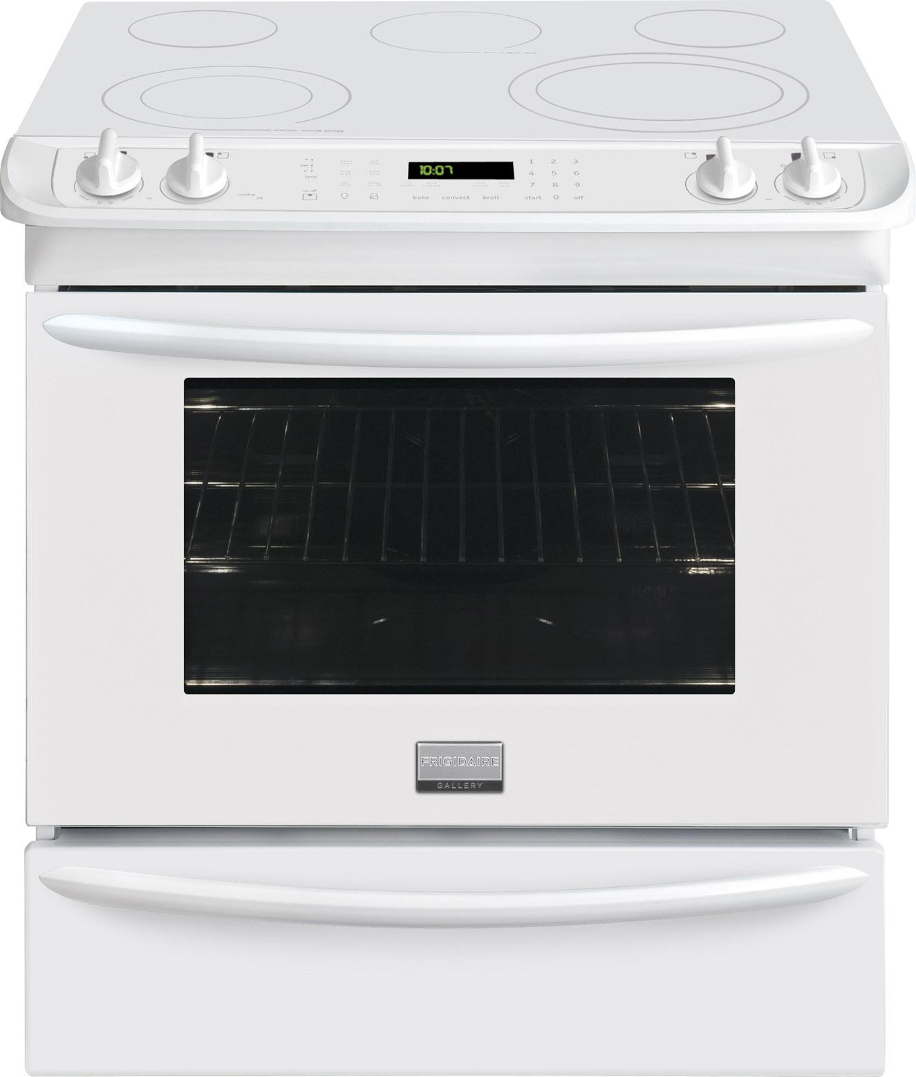 "Frigidaire Frigidaire Gallery Electric Ranges 30"" Slide-In Electric Range - Item Number: FGES3065PW"