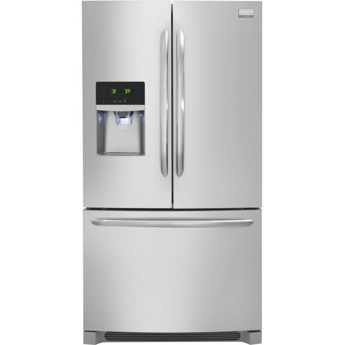 Frigidaire French Door Refrigerators 22.6 Cu. Ft. French Door Counter-Depth Refri - Item Number: DGHF2360PF