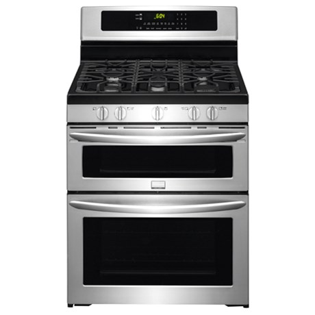 "Frigidaire Frigidaire Gallery Gas Ranges 30"" Freestanding Gas Double Oven Range - Item Number: FGGF304DPF"
