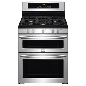 "Frigidaire Frigidaire Gallery Gas Ranges 30"" Freestanding Gas Double Oven Range"