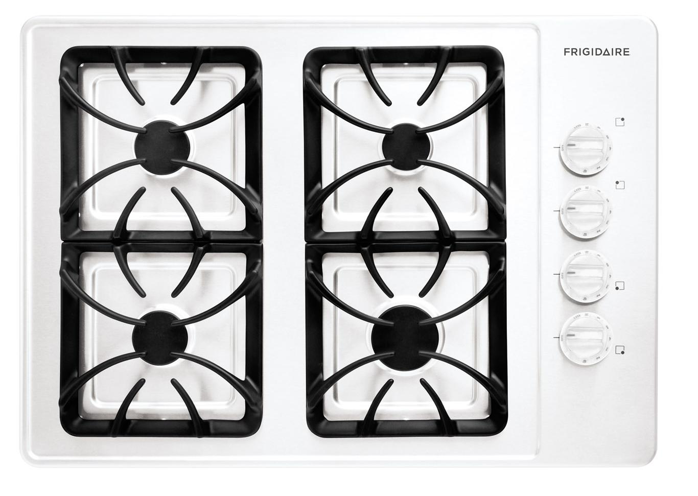 "Frigidaire Gas Cooktop 30"" Built-In Gas Cooktop - Item Number: FFGC3015LW"