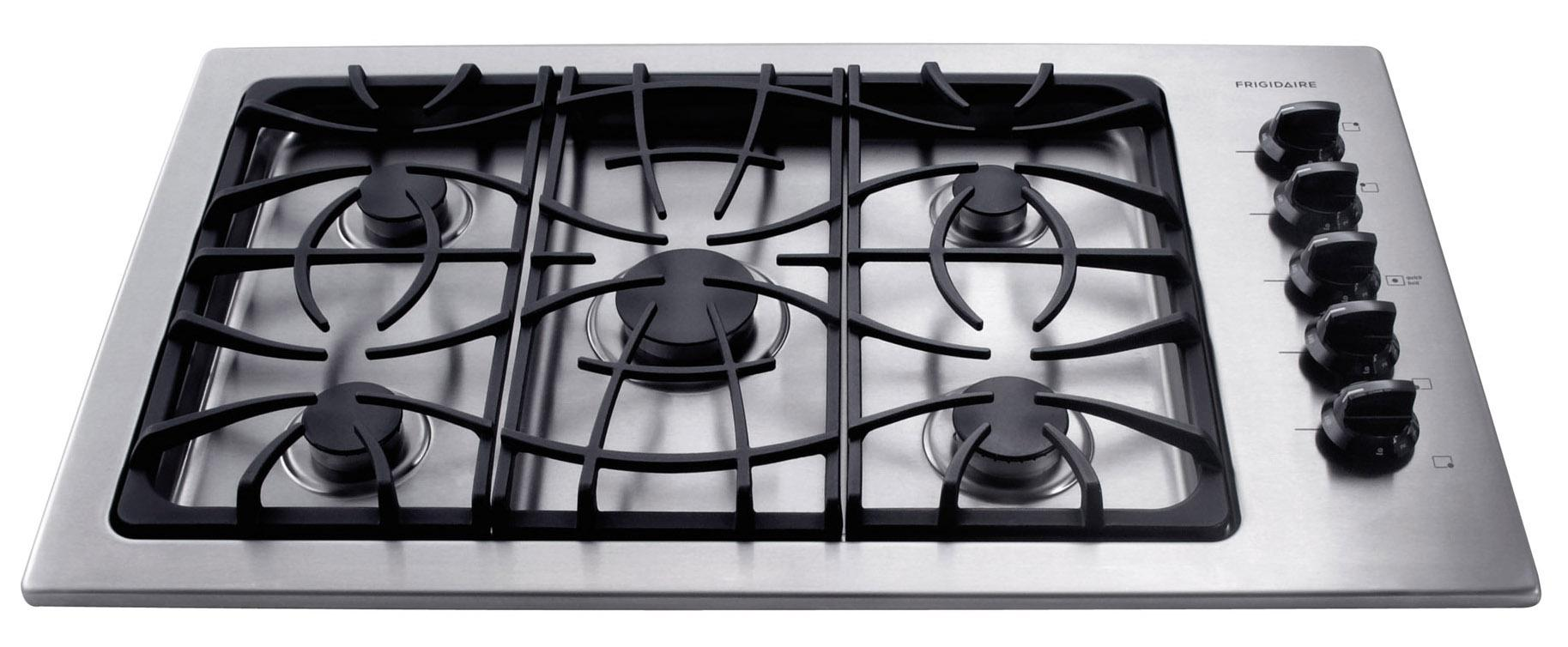 "Frigidaire Gas Cooktop 36"" Built-In Gas Cooktop - Item Number: FFGC3625LS"