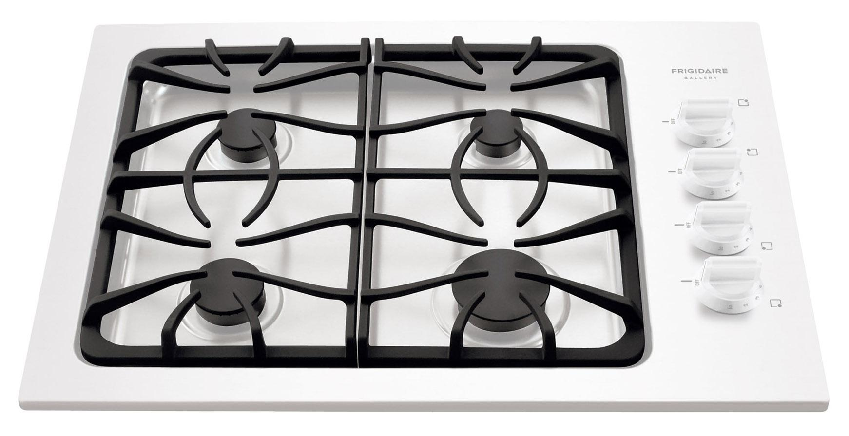 "Frigidaire Gas Cooktop Gallery 30"" Built-In Gas Cooktop - Item Number: FGGC3045KW"
